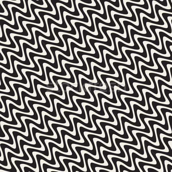 Ondulado ondulação linhas vetor sem costura preto e branco Foto stock © Samolevsky