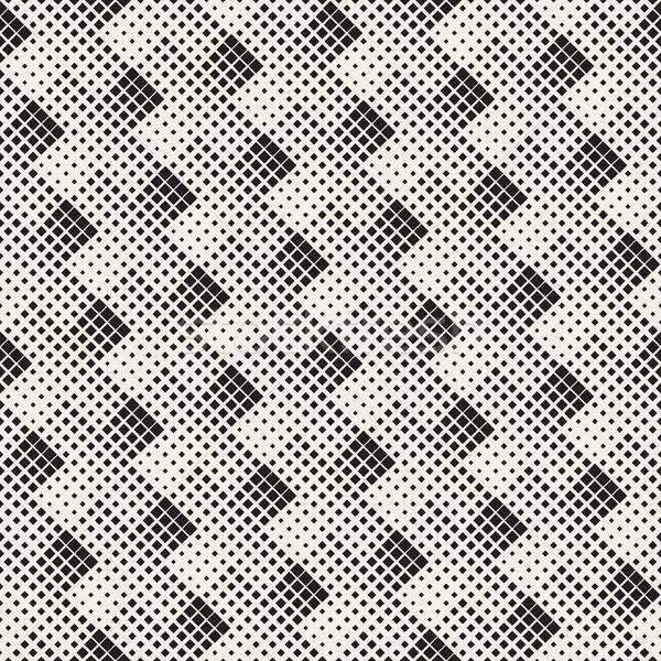Vektör siyah beyaz soyut geometrik çapraz Stok fotoğraf © Samolevsky