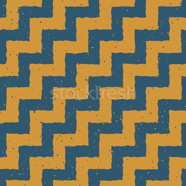 Photo stock: Vecteur · bleu · jaune · couleur · dessinés · à · la · main