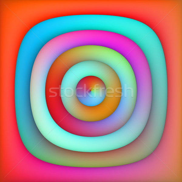Raster Multicolor Gradient Concentric Circles Abstract Background Stock photo © Samolevsky