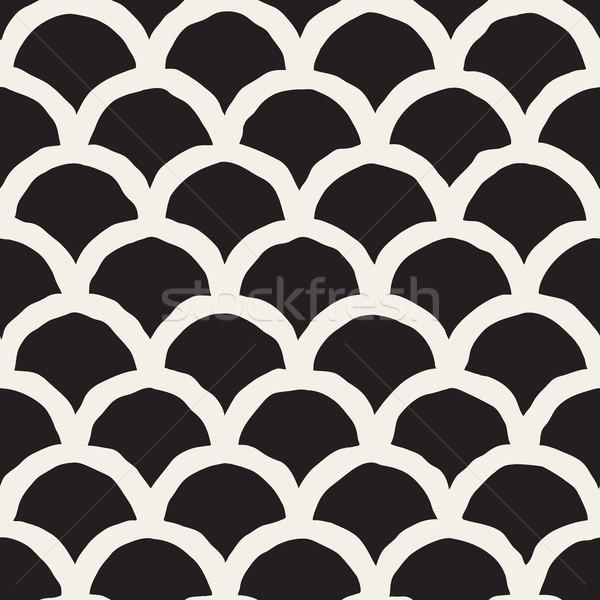 Vettore senza soluzione di continuità bianco nero linee pattern Foto d'archivio © Samolevsky