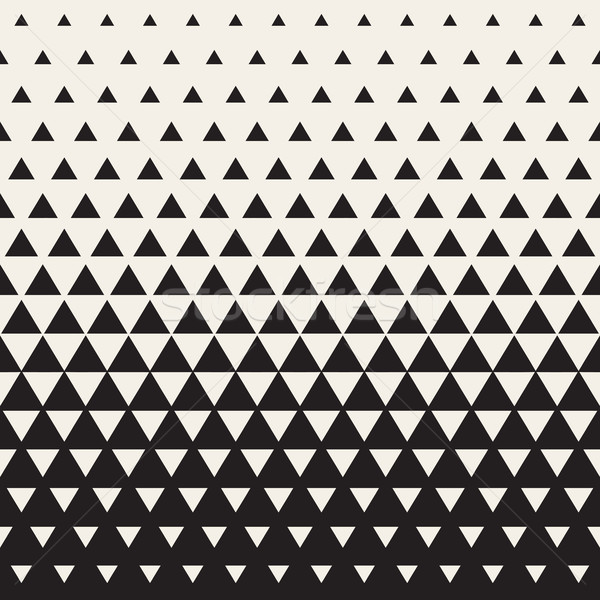 Vector Seamless White to Black Transition Triangle Halftone Gradient Pattern Stock photo © Samolevsky
