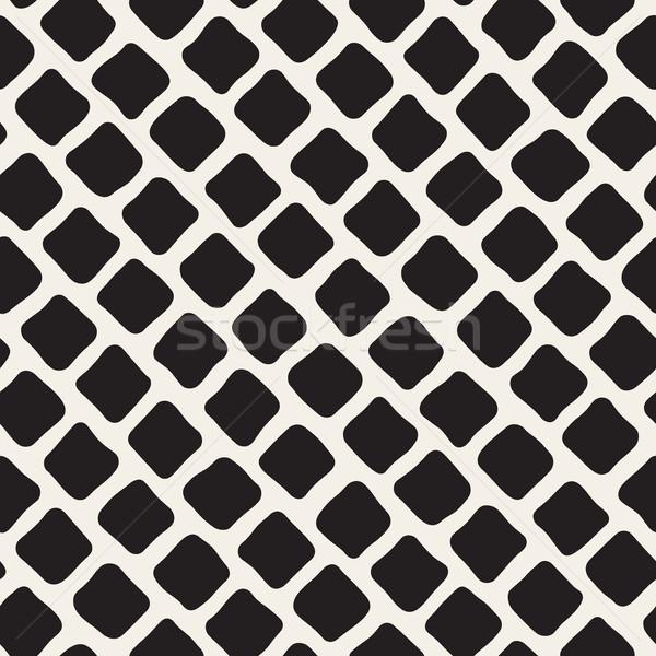 Vettore senza soluzione di continuità bianco nero marciapiede pattern Foto d'archivio © Samolevsky