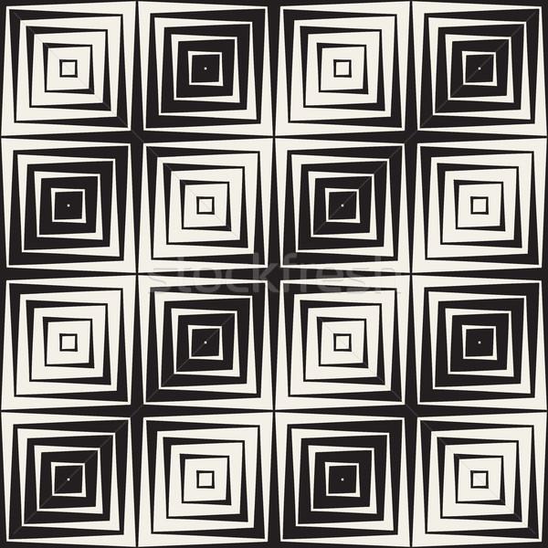 ハーフトーン 勾配 モザイク ベクトル シームレス 黒白 ストックフォト © Samolevsky