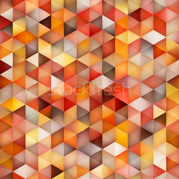 Vector Seamless Multicolor Gradient Cube Shape Rhombus Grid Geometric Pattern Stock photo © Samolevsky