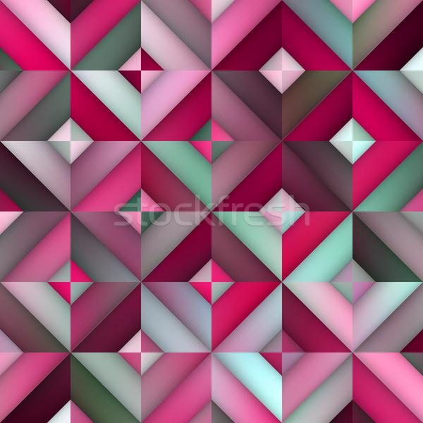 Vettore senza soluzione di continuità rosa gradiente disegno geometrico abstract Foto d'archivio © Samolevsky
