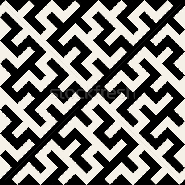 Vector Black and White Maze Ornament Seamless Pattern Stock photo © Samolevsky