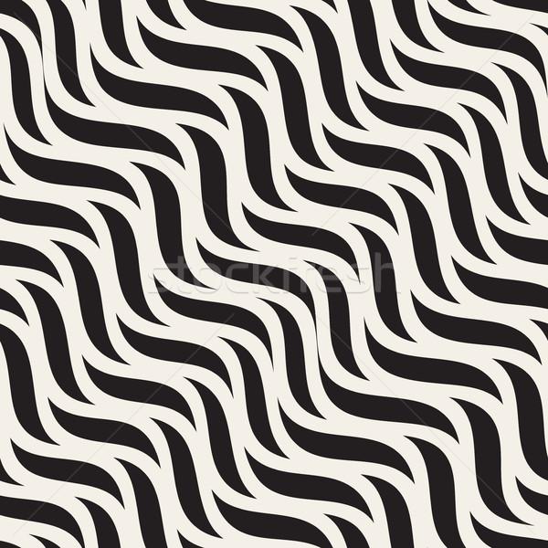 ベクトル シームレス 対角線 波状の ジグザグ 行 ストックフォト © Samolevsky