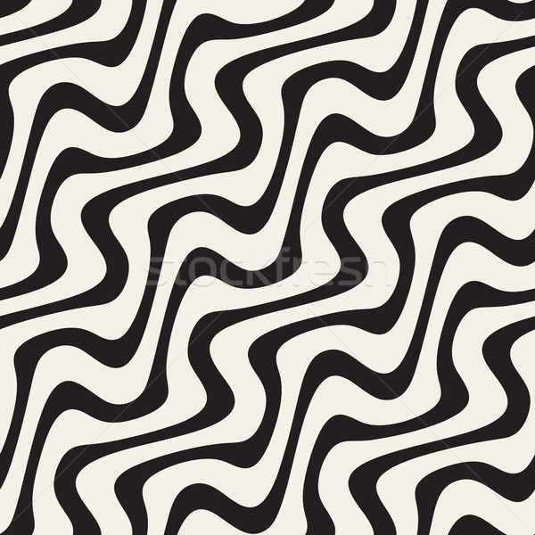 Wavy Lines Hand Drawn Pattern. Abstract Freehand Background Design Stock photo © Samolevsky