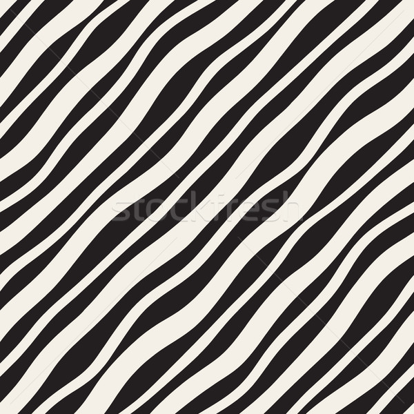 Vector Seamless Diagonal Wavy Lines Pattern Stock photo © Samolevsky