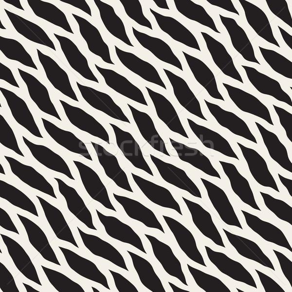 Vettore senza soluzione di continuità bianco nero diagonale ondulato Foto d'archivio © Samolevsky