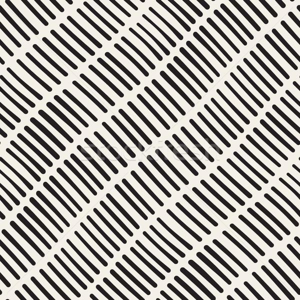 Vektor végtelenített kézzel rajzolt durva átló vonalak Stock fotó © Samolevsky