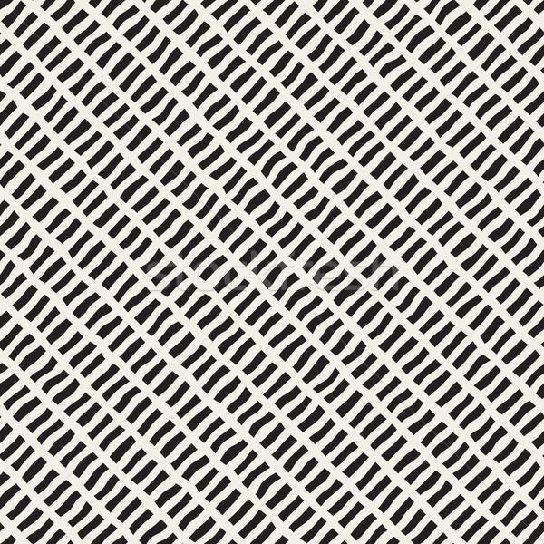 Vettore senza soluzione di continuità diagonale linee pattern Foto d'archivio © Samolevsky