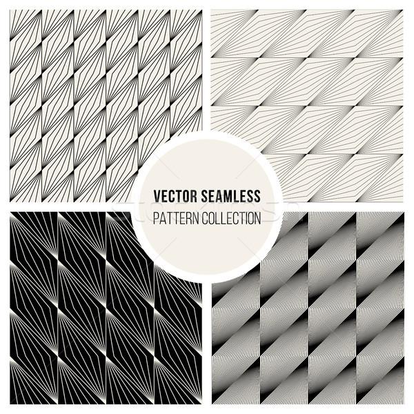Vettore senza soluzione di continuità piazza linee disegno geometrico set Foto d'archivio © Samolevsky