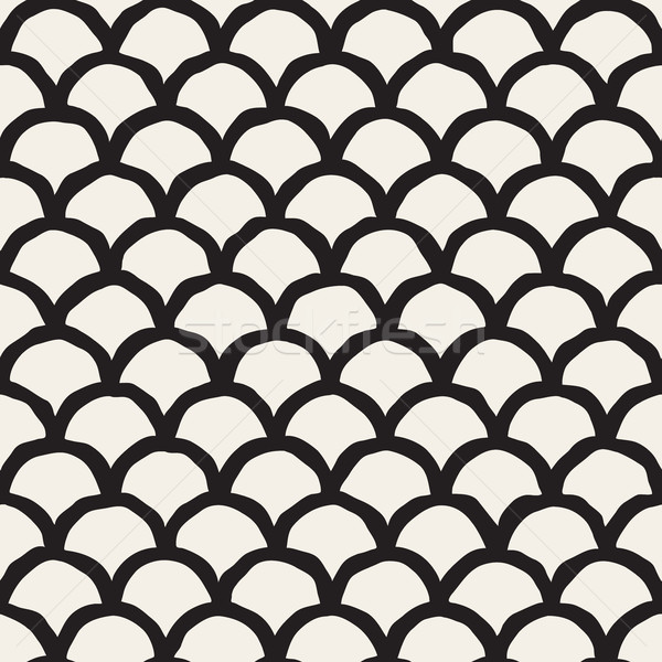 Vector Seamless Rounded Lines Oriental Pattern Stock photo © Samolevsky