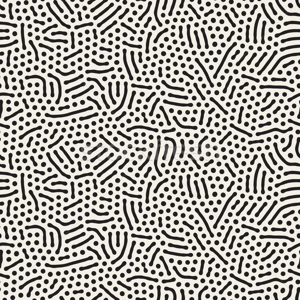 Vector Seamless Organic Rounded Jumble Lines Retro Pattern Stock photo © Samolevsky