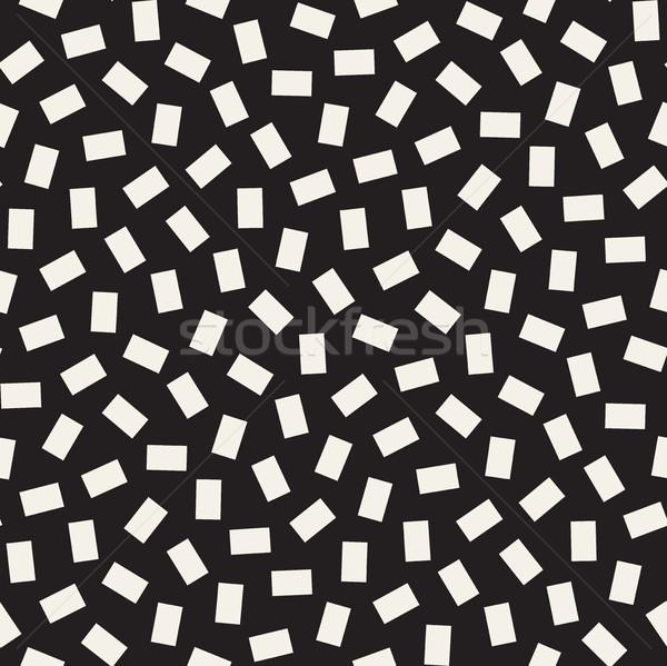 Mértani formák vektor végtelenített feketefehér minta Stock fotó © Samolevsky