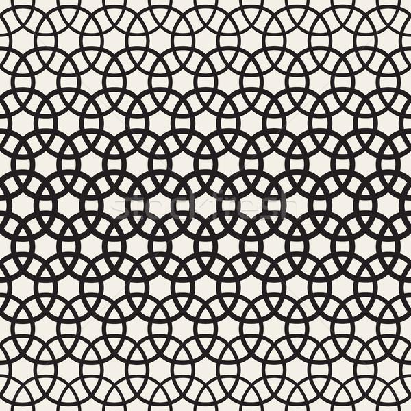 サークル ベクトル シームレス 黒白 パターン ストックフォト © Samolevsky