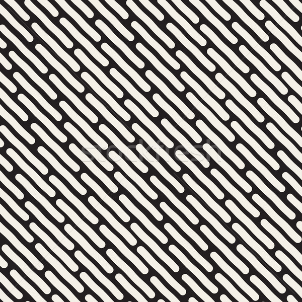 Vector Seamless Jumble Hand Drawn Diagonal Lines Pattern Stock photo © Samolevsky