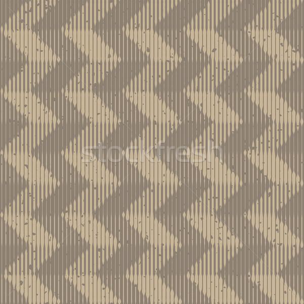 Vector Seamless Grey Hand Drawn Engraving Chevron Lines Retro Grunge Pattern Stock photo © Samolevsky