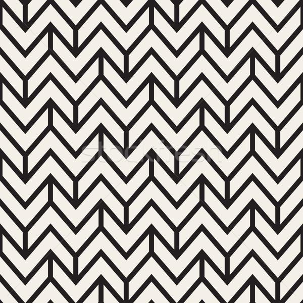 Vettore senza soluzione di continuità zig-zag diagonale linee disegno geometrico Foto d'archivio © Samolevsky