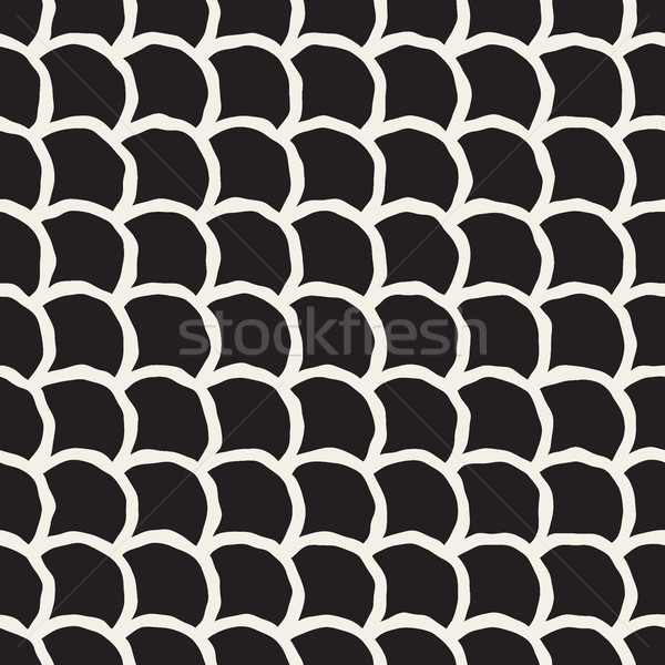 Vector Seamless Hand Drawn Rounded Lines Oriental Pattern Stock photo © Samolevsky