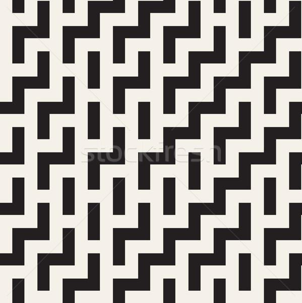 Labyrinthe carrelage contemporain design graphique vecteur Photo stock © Samolevsky