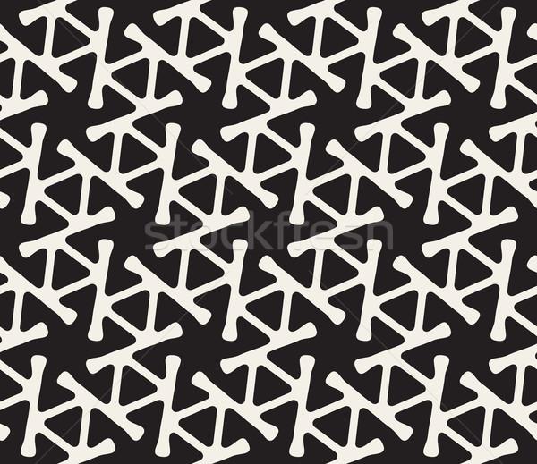 Vetor sem costura linha triângulo spiralis padrão Foto stock © Samolevsky