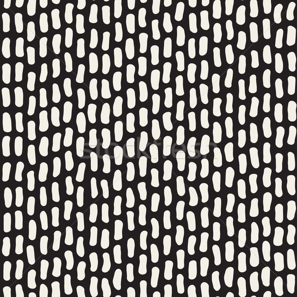 Vector Seamless Black And White Jumble Hand Drawn Lines Pattern Stock photo © Samolevsky