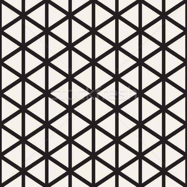 Vettore senza soluzione di continuità bianco nero triangolo linee griglia Foto d'archivio © Samolevsky