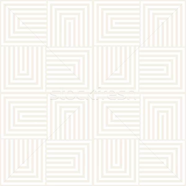 Repeating Geometric Stripes Tiling. Vector Seamless Monochrome Pattern Stock photo © Samolevsky