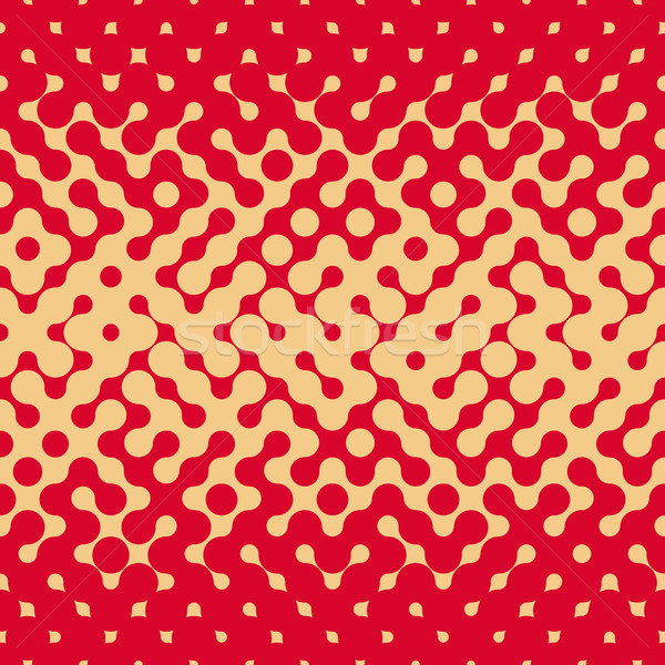 Vector Seamless Rounded Halftone Gradient Irregular Retro Grungy Red  Tan Pattern Stock photo © Samolevsky