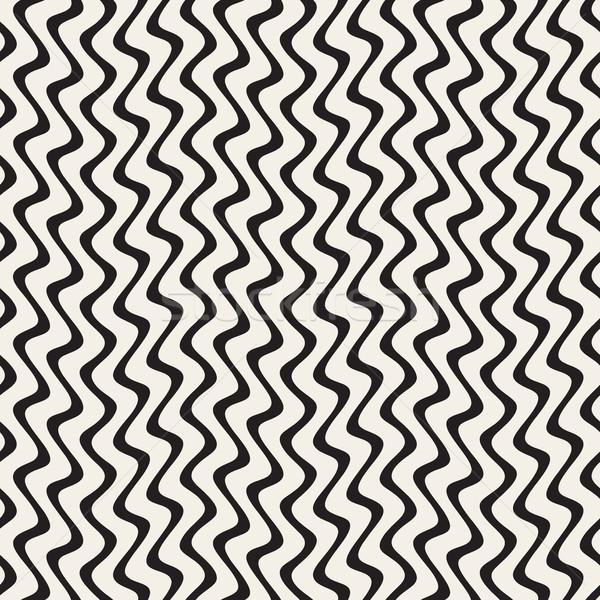 Verticale zig-zag linee abstract geometrica Foto d'archivio © Samolevsky