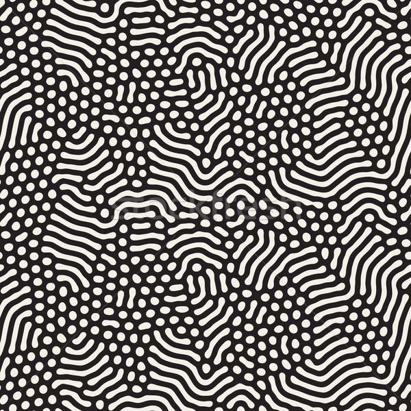 Organik hatları vektör siyah beyaz model Stok fotoğraf © Samolevsky