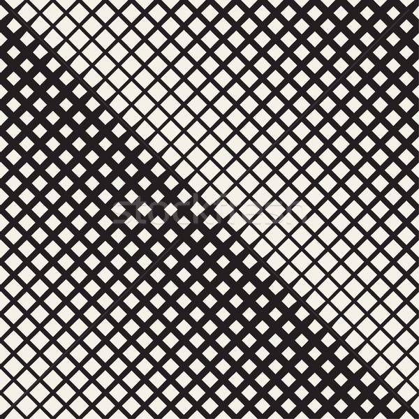 ストックフォト: スタイリッシュ · ハーフトーン · グリッド · ベクトル · シームレス