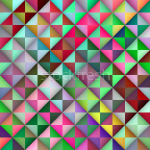Vector naadloos helling driehoek tegels geometrisch patroon Stockfoto © Samolevsky