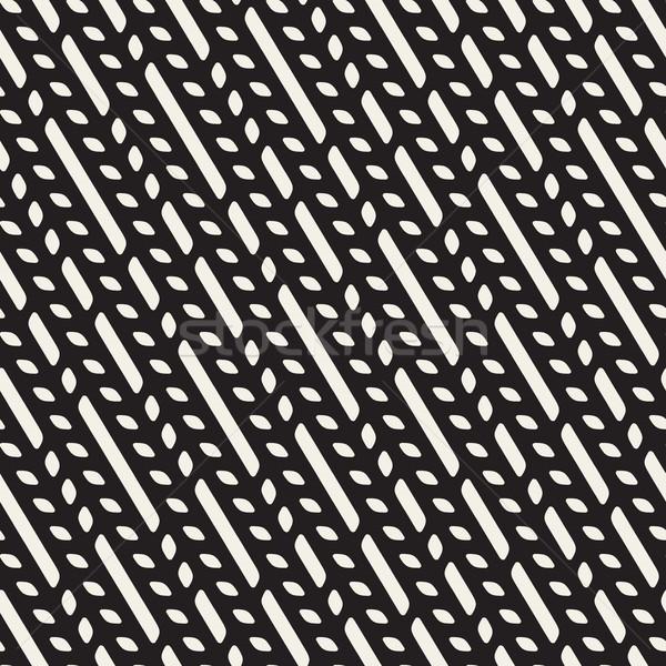 Vektör diyagonal hatları geometrik desen model Stok fotoğraf © Samolevsky