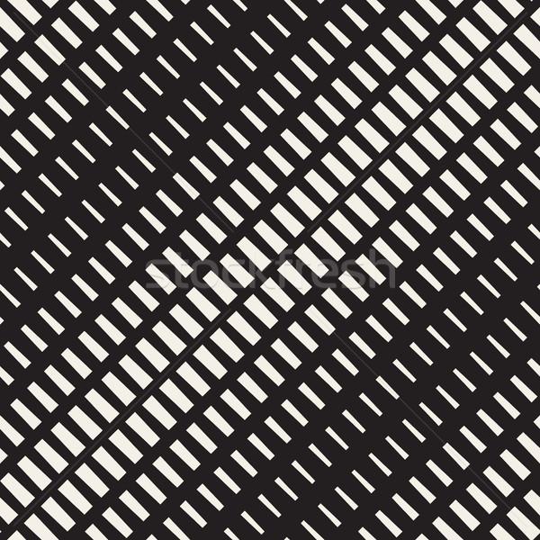 Vector sin costura blanco negro diagonal medios tonos patrón Foto stock © Samolevsky