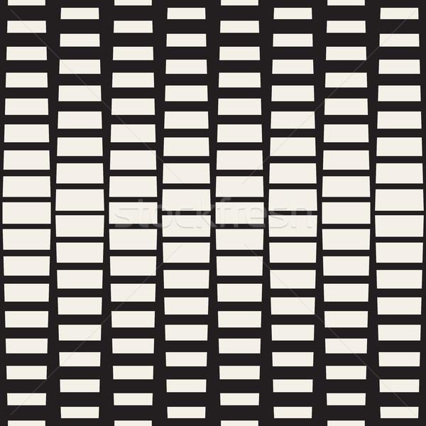 Vector naadloos zwart wit rechthoek halftoon geometrisch patroon Stockfoto © Samolevsky