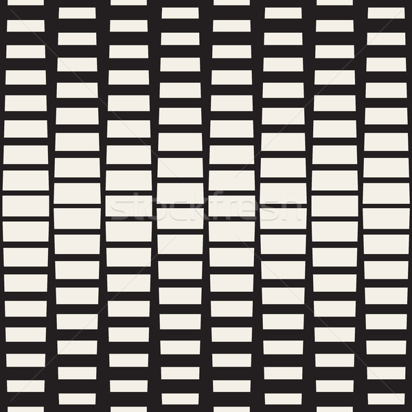 Vector Seamless Black And White Rectangle Halftone Geometric Pattern Stock photo © Samolevsky