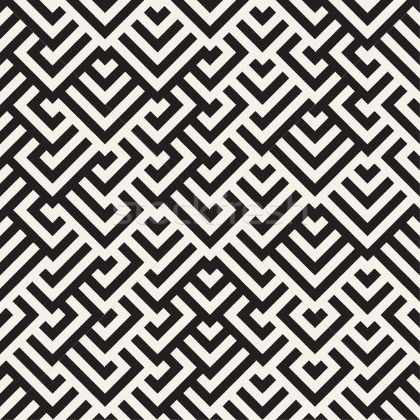 Labirinto linee contemporanea grafica vettore senza soluzione di continuità Foto d'archivio © Samolevsky