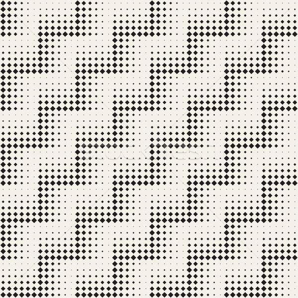 şık minimalist yarım ton ızgara vektör Stok fotoğraf © Samolevsky
