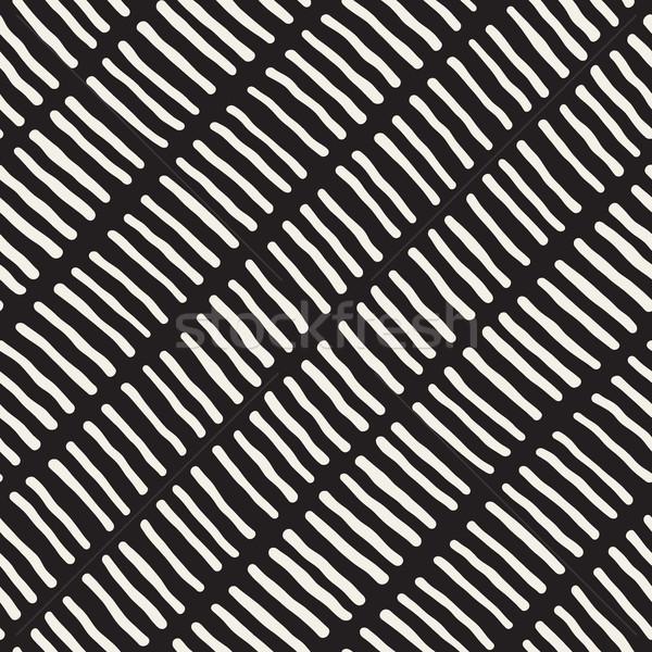 Vektör siyah beyaz hatları diyagonal Stok fotoğraf © Samolevsky