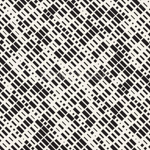 Vector sin costura blanco negro red patrón de moda Foto stock © Samolevsky