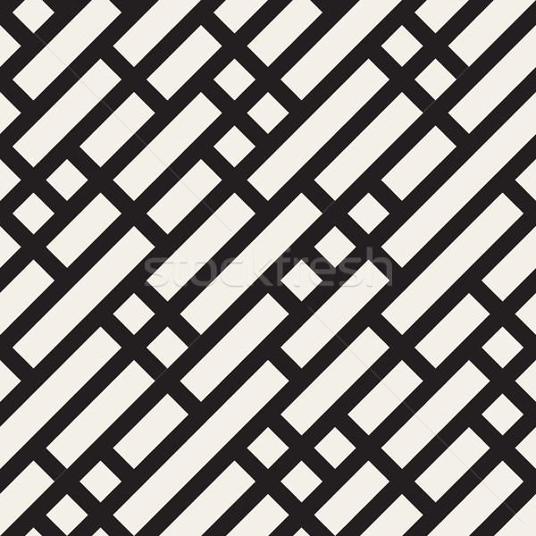 Stok fotoğraf: Vektör · siyah · beyaz · geometrik · diyagonal · hatları