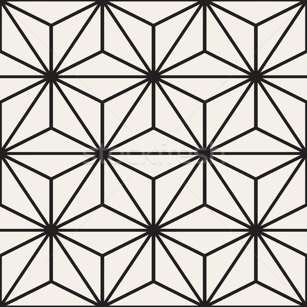 Vettore senza soluzione di continuità bianco nero linee griglia pattern Foto d'archivio © Samolevsky