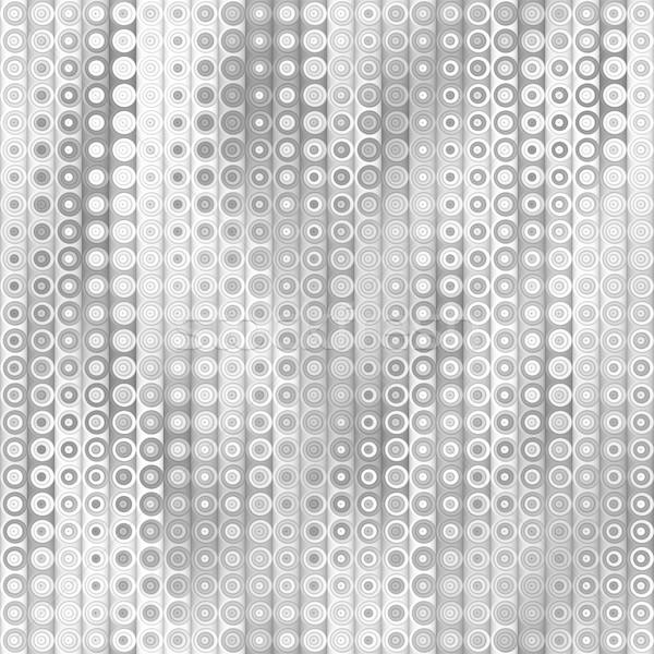 Raster Seamless Greyscale Gradient Vertical Stripes And Circles Pattern Stock photo © Samolevsky