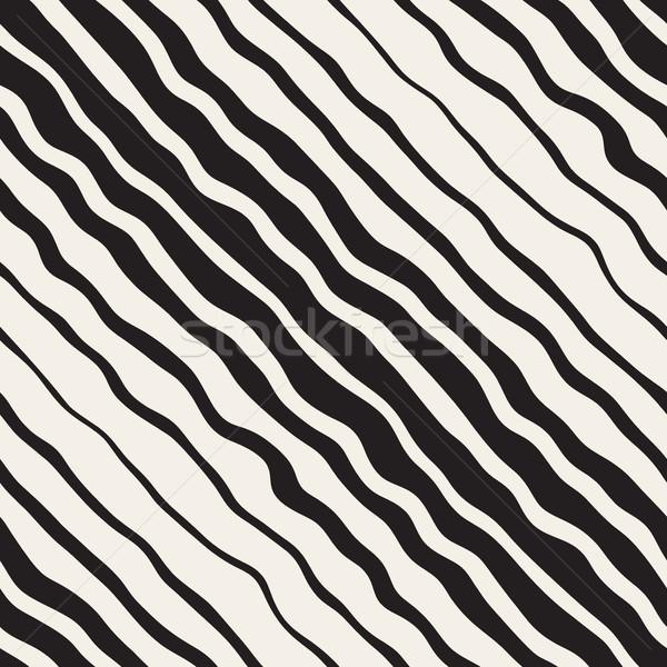 波状の リップル 手描き 勾配 行 ベクトル ストックフォト © Samolevsky