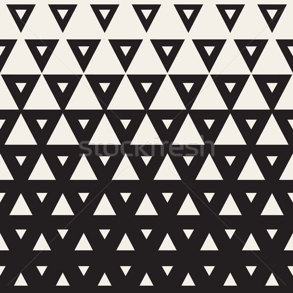 Vektör siyah beyaz üçgen yarım ton geometrik desen Stok fotoğraf © Samolevsky