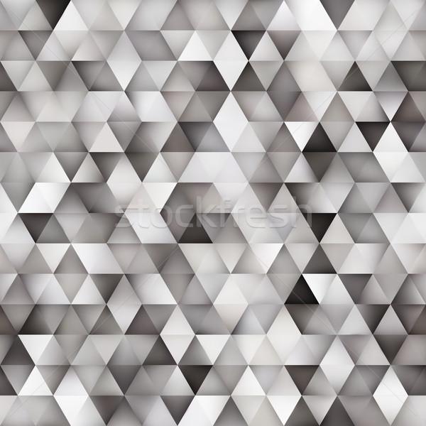 Wektora bezszwowy gradient trójkąt sieci Zdjęcia stock © Samolevsky
